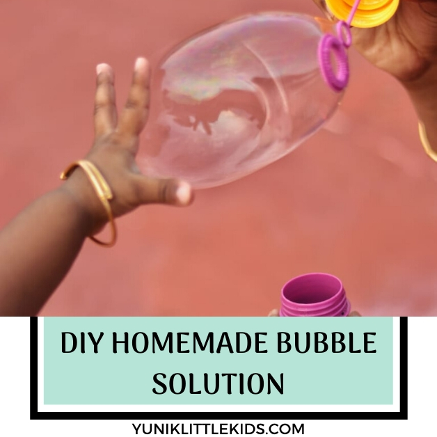 DIY Homemade Bubble Solution Recipe