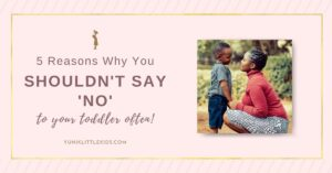 saying no to kids